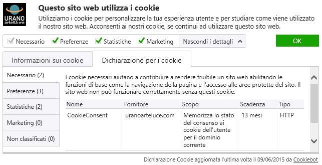 dichiarazione cookie