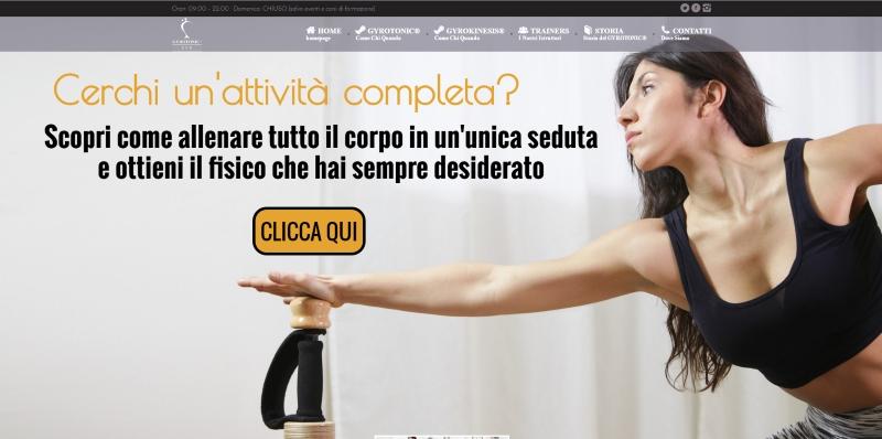 realizzazione sito web gyrotonic eur roma